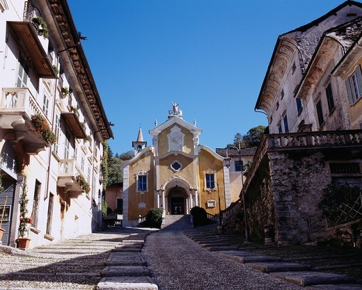 Santa Maria church, Orta San Giulio, Italy, Europe : Stock Photo