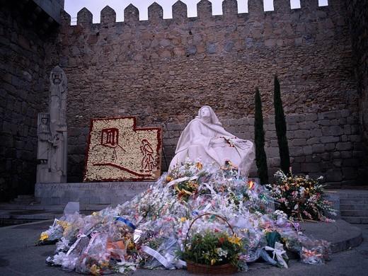 Bouquet, Santa Teresa monastery, Avila, Spain : Stock Photo