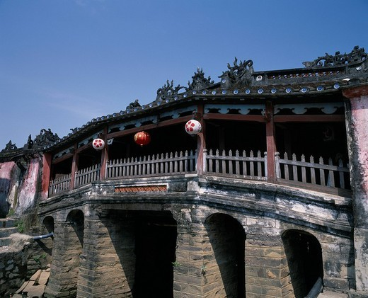 Stock Photo: 4034-23863 Cau Lai Vien Japan Bridge Hoi An Vietnam