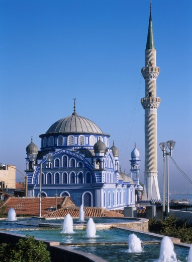 Mosque of a blue tile, Izmir, Turkey : Stock Photo