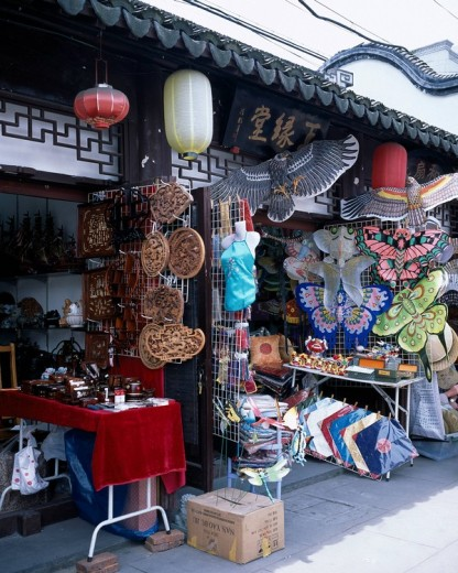 Shanghai Laojie, old town, Folkcraft, Shanghai, China : Stock Photo