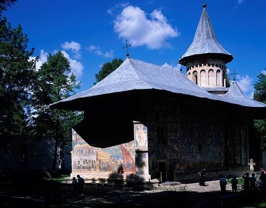 Stock Photo: 4034-28545 Voronets monastery Five monasteries Rumania