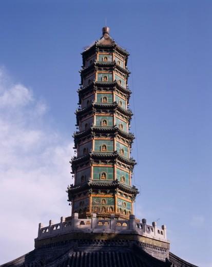 lapis lazuli towerFragrant Hills Park, Beijing, China : Stock Photo