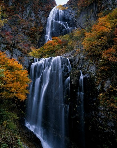 Stock Photo: 4034-28953 Waterfall of Yasu, Waterfall, Ani, Akita, Japan