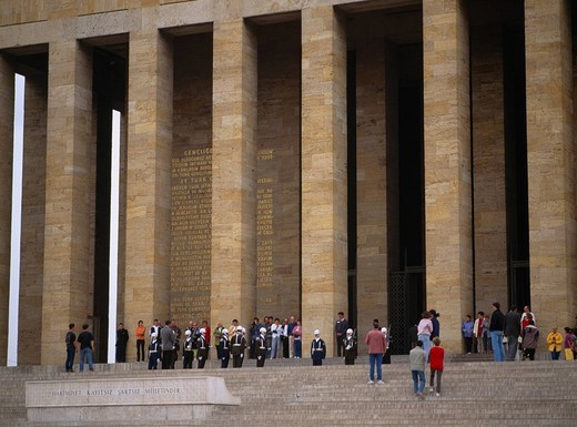 Stock Photo: 4034-29609 Guard shift, Mausoleum of Ataturk, Ankara, Turkey