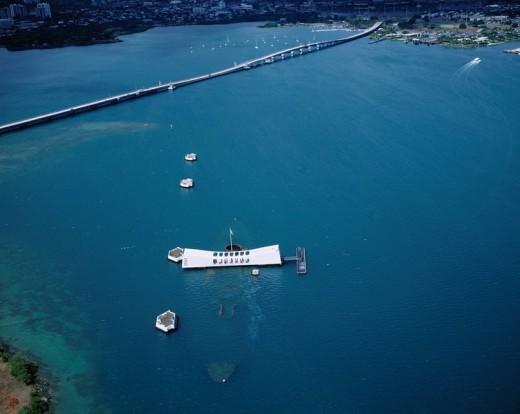 U.S.S. Arizona Memorial, Pearl Harbor, Pearl City, Oahu, Hawaii : Stock Photo
