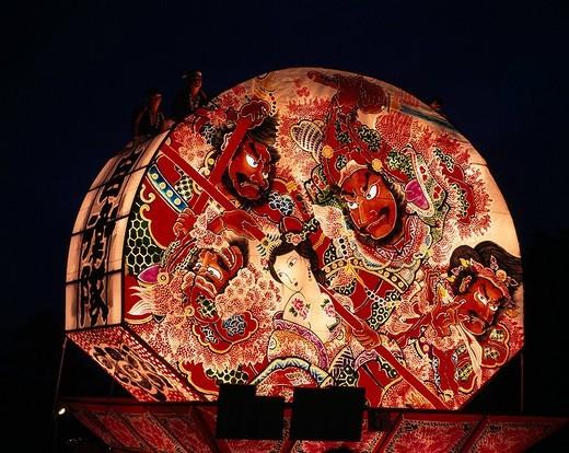 Stock Photo: 4034-31531 Hirosaki Neputa Festival Hirosaki Aomori Japan Event August