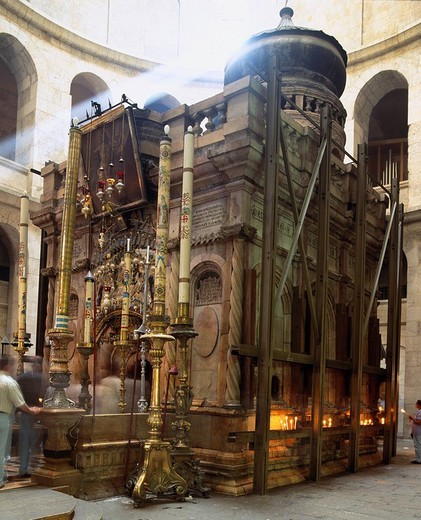 Tomb of Jesus Christ, Church of Holy Sepulcher, Jerusalem, Israel, World heritage : Stock Photo