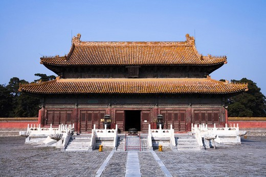 Western Qing Tombs, Yongzheng Emperor´s Tomb, Beijing, China, Asia, World Heritage : Stock Photo