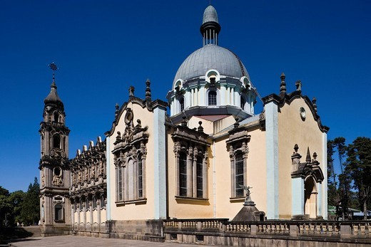 Cathedral of the holy trinity, Exterior, Addis Ababa, Ethiopia : Stock Photo