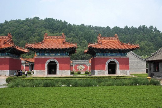 Qingyong Imperial mausoleum, Bei ting, Qing dynasty, Fushun, Liaoning, China : Stock Photo