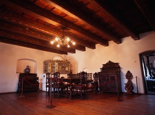 Dracula´s model Bran castle Brasov Rumania : Stock Photo