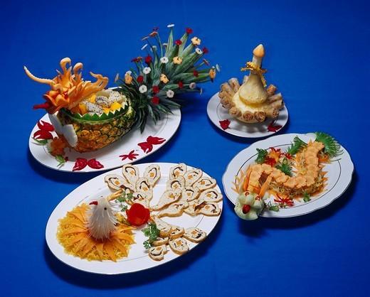 Restaurant Tinh Gia Vien Court dish Hue Vietnam : Stock Photo