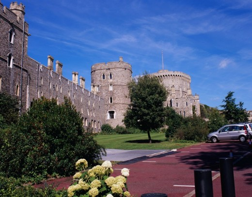 South, Windsor castle, palace, Windsor, United Kingdom, Europe, August : Stock Photo