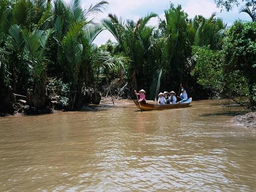 Stock Photo: 4034-37224 Mekong cruise My Tho Vietnam