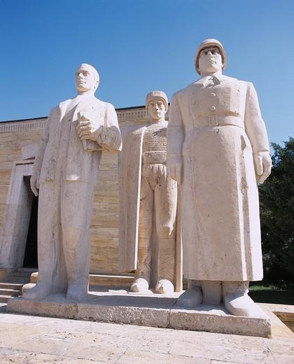 Stock Photo: 4034-3761 Mausoleum of Ataturk, Ankara, Turkey