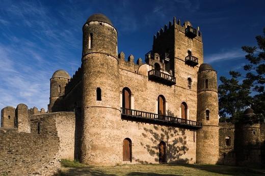 Gondar Castle, Gondar, Ethiopia, Africa, World Heritage : Stock Photo