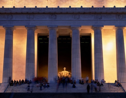 Stock Photo: 4034-38253 Lincoln Memorial Washington DC United States of America