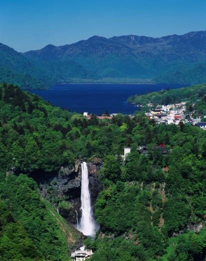 Kegon waterfall, Cyuzenjiko, Akechidaira Photographed point, Nikko city, Tochigi, Japan : Stock Photo