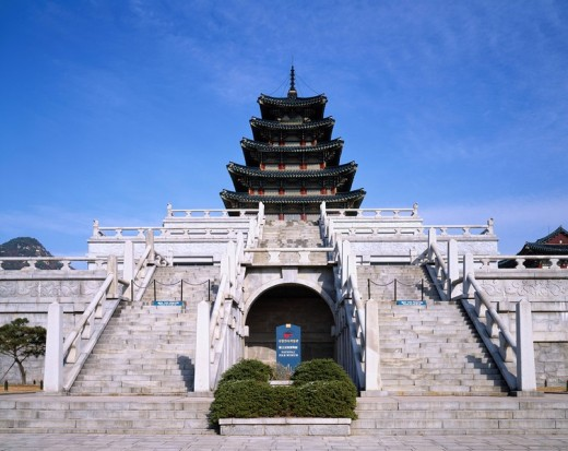Stock Photo: 4034-41495 National Folk Museum of Korea, Gyeongbokgung, Seoul, South Korea