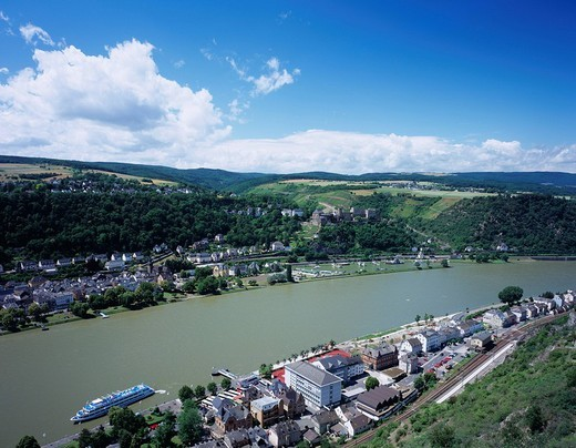 City View, Rhine, Germany, Europe : Stock Photo
