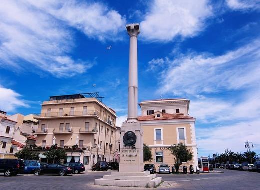 Stock Photo: 4034-42852 Garibaldi monument, Maddalena island, Maddalena islands, Sardinia, Italy