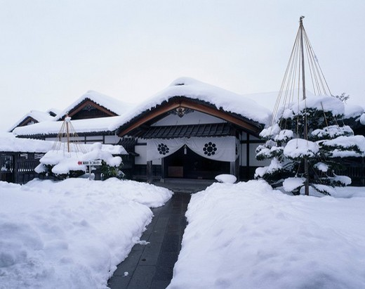 Aizu samurai residence Aizuwakamatsu Fukushima Japan : Stock Photo