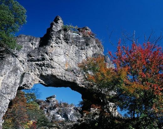 Autumn Myogi_san Mountain The fourth Shimen Shimonita Gunma Japan : Stock Photo