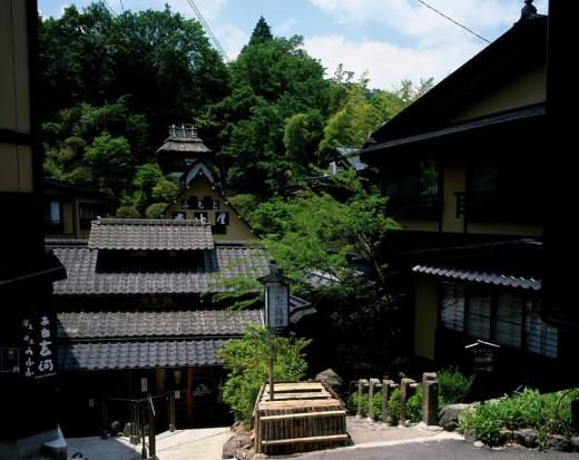 Stock Photo: 4034-43520 Kurokawa Hot spring, Minamioguni, Kumamoto, Japan