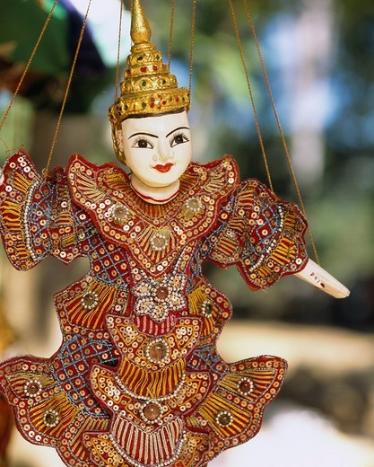 Folkcraft Doll of a Apsara dance Siem Reap Cambodia : Stock Photo