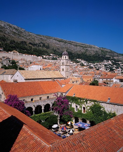 Stock Photo: 4034-4401 Old city, Dubrovnik, Croatia