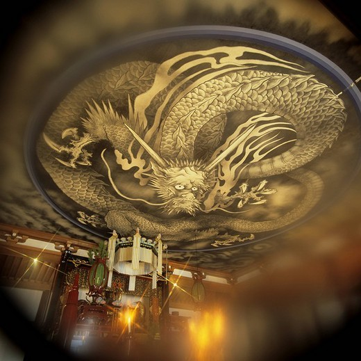 Dragon in the cloud Tenryu Temple Kyoto Kyoto Japan Temple Dragon Pattern : Stock Photo