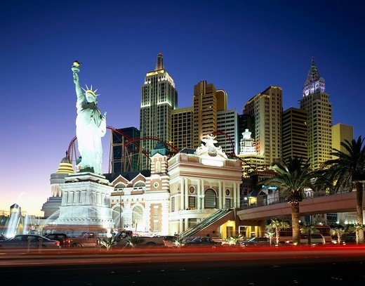 Hotel, New York New York, Las Vegas, United States of America : Stock Photo