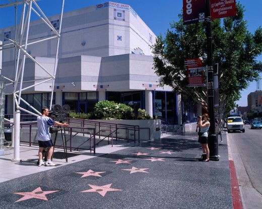 Hollywood main street, Walk of fame, Los Angeles, United States of America : Stock Photo
