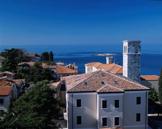 local museum, Mare Adriatico, Take a picture from temple of Confusius tower, Poretu, Croatia, Europe, October : Stock Photo