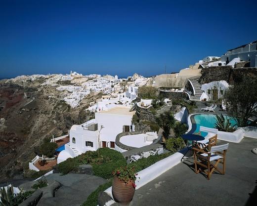 Stock Photo: 4034-46469 Oia City View Oia Santorini island Greece