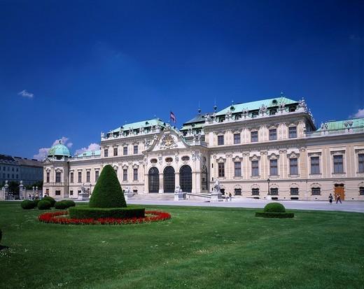 Schloss Belvedere palace, Vienna, Austria : Stock Photo