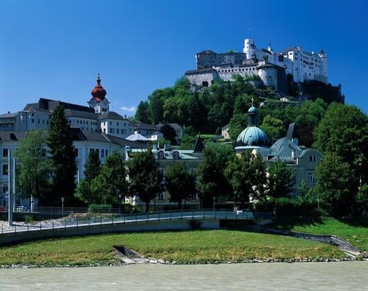 Stock Photo: 4034-46823 Hohensaltzburg castle City View Salzburg Austria