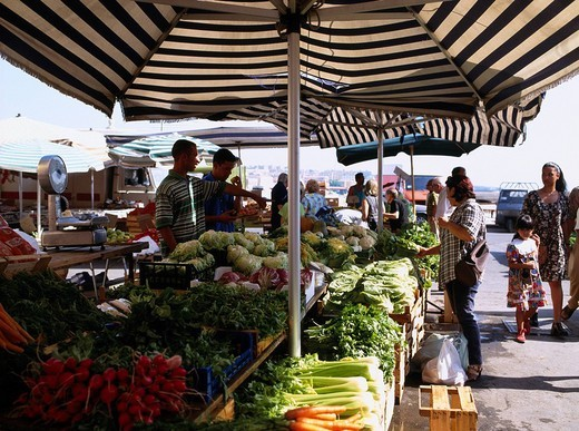 Market, Siracusa, Isola di Sicilia, Italy : Stock Photo