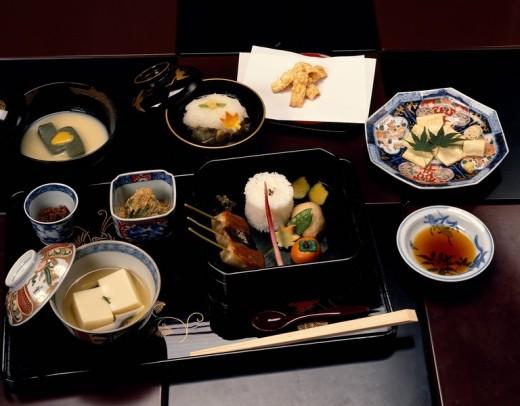 Kyofu Cuisine Fu Hanbei Tamaoki Kyoto Japan Japanese Cuisine : Stock Photo