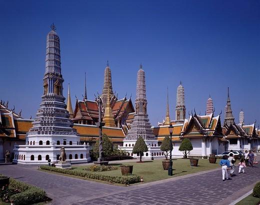 Emerald temple Bangkok Thailand : Stock Photo