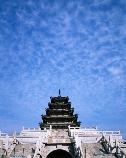 National Folk Museum of Korea, Gyeongbokgung, Seoul, South Korea : Stock Photo