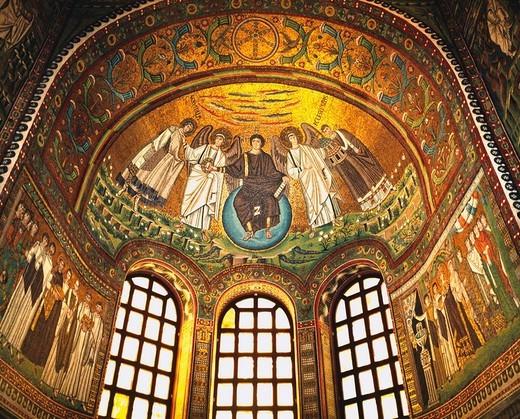 Mosaic, Rabenna, Italy, San Vitarre church : Stock Photo