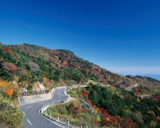 The Bandai Azuma skyline Red leaves Fukushima Fukushima Japan : Stock Photo