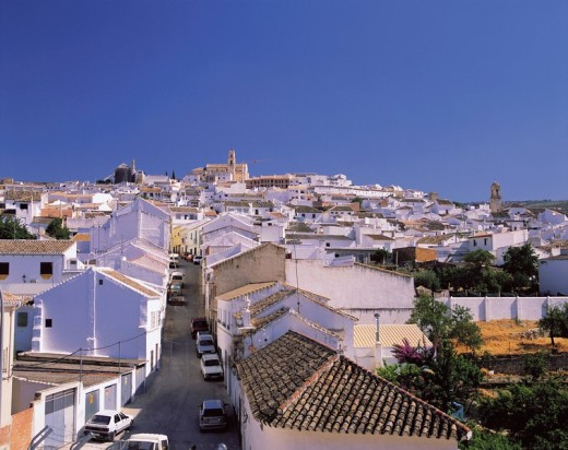 White row of houses, Baena, Andalucia, Spain : Stock Photo