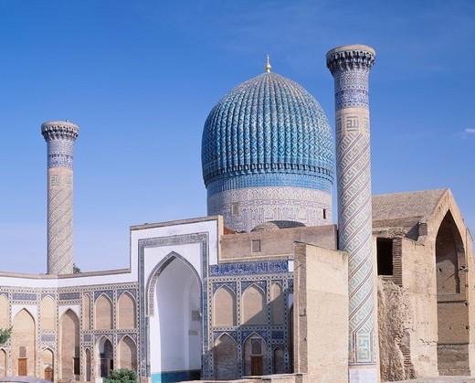 Stock Photo: 4034-50585 Gur Emir Mausoleum, Samarkand, Uzbekistan