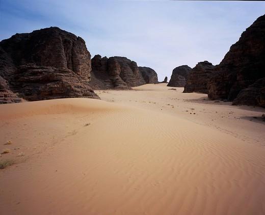 Desert, Tassili n´Ajjer, Algeria, World Heritage : Stock Photo