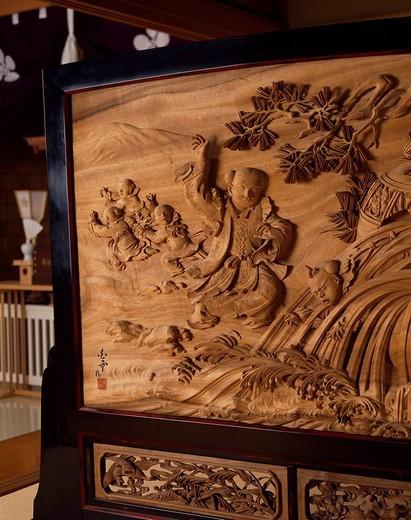 Stock Photo: 4034-51807 Partition, Onko Shiba, Inami sculpture, Toyama, Japan