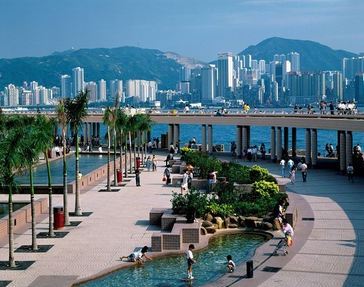 Stock Photo: 4034-5218 Kowloon __ public __ peer Kowloon peninsula Hong Kong