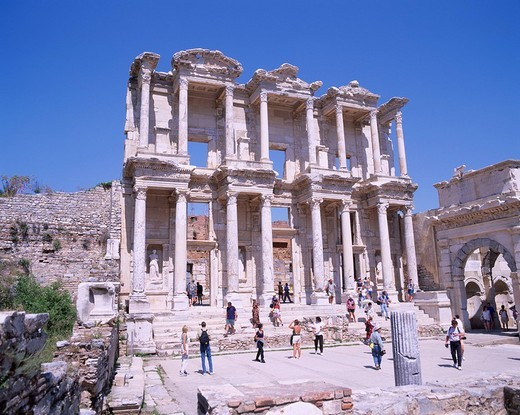 Celsus library, The ruins of the Ephesus city, Ephesus, Turkey, World Heritage : Stock Photo